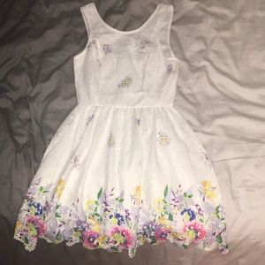 Lulu's Lace and Colorful Floral Dress